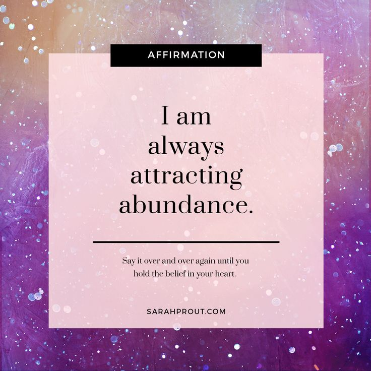 I am always attracting abundance. http://www.lawofatractions.com/why-is-attitude-important/