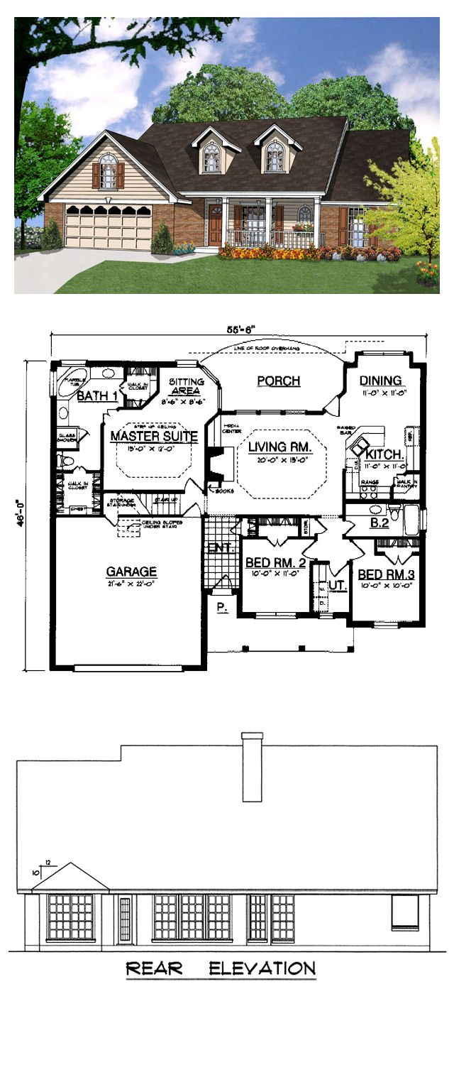 17 best images about ranch house plans on pinterest for Cool house plans ranch