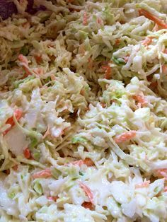 Texas Coleslaw Recipe ~ Says: This is the best, tangiest coleslaw that I've ever tried. It's easy to throw together, to boot!