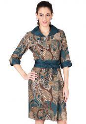 BATIK SEMAR  BATIK SEMAR Sekdress Batik Printing Hijau