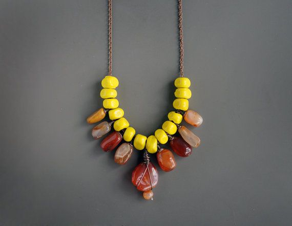 Hey, I found this really awesome Etsy listing at https://www.etsy.com/listing/237038292/neon-necklace-ceramic-necklace-carnelian