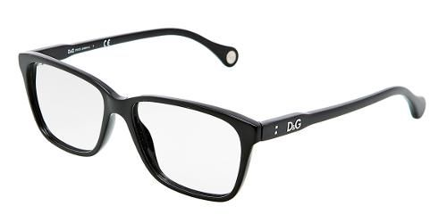Dolce & Gabbana Women Ophthalmic Collection - Square Glasses with Black Frame, Model DD 1238 Color code 501
