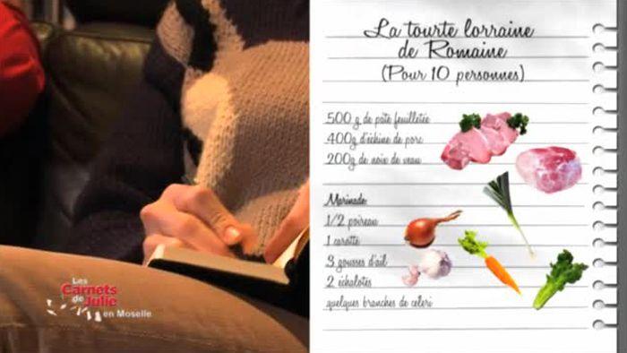 """Revoir en replay et en streaming """"La tourte lorraine de Romaine"""" - Les Carnets de Julie - France 3"""