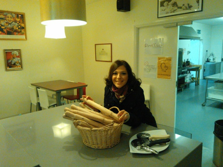 Francesca, our Communication manager, @ the Italian School of Cooking, where the FIBI organises BtoB agri food meeting :)