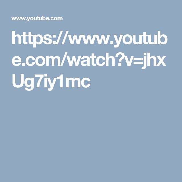 https://www.youtube.com/watch?v=jhxUg7iy1mc