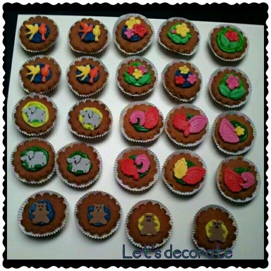 Dierencupcakes, bloemencupcakes - made by Annelies