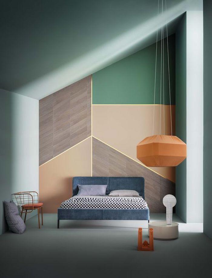Peinture Murale Deco Vert D Eau Teinte Celadon Et Mur D