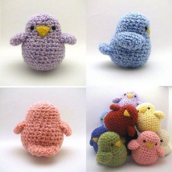 crocheted birdies