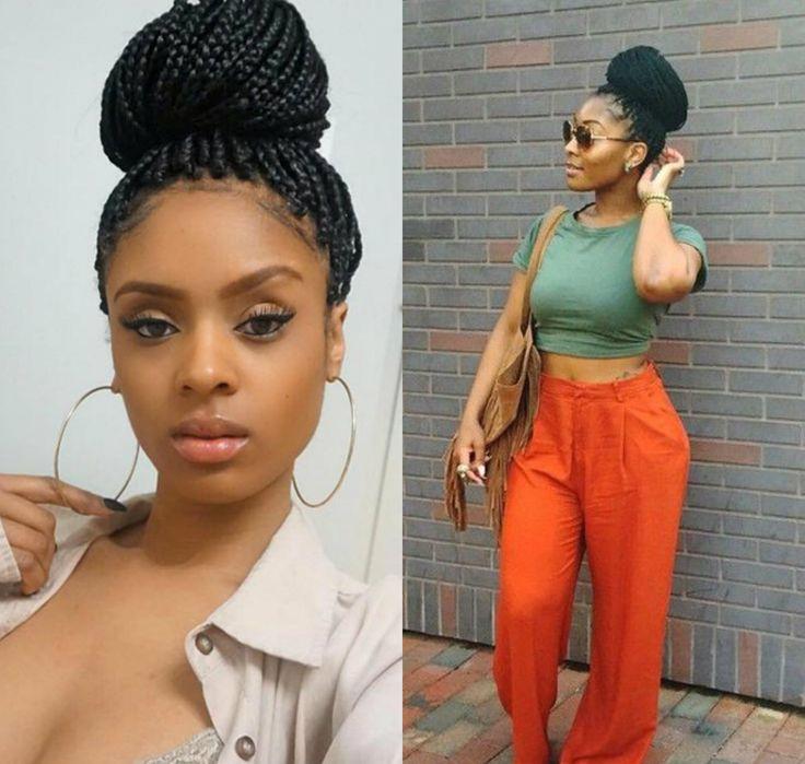 High Updos From Jumbo Braids Hair Pinterest
