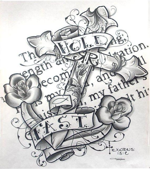 anchor bible verse | (picture,anchor,nautical,sea,ocean,roses,cross,scripture,bible verse ...