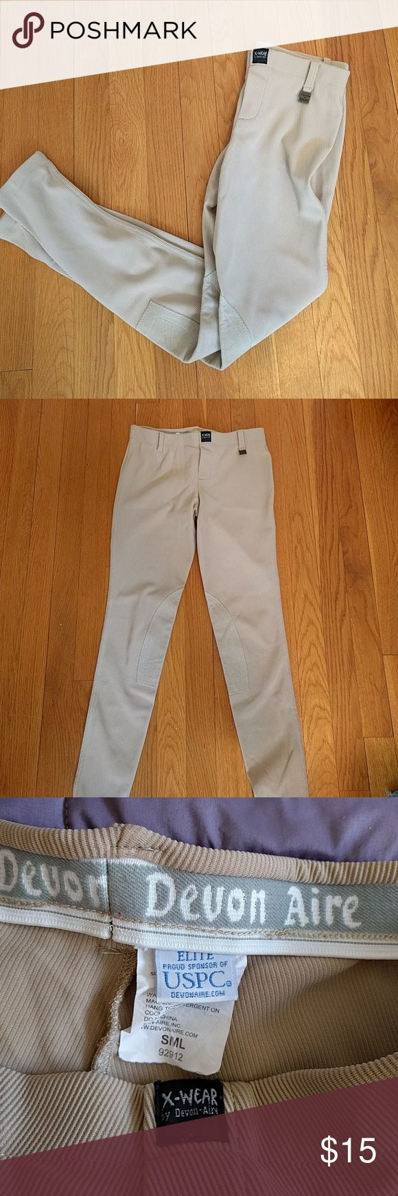 Horseback riding breeches Tan breeches Pants