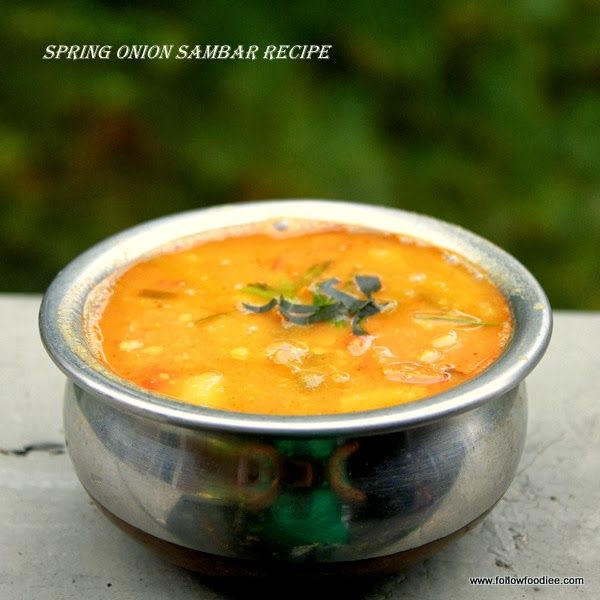 Spring Onions Sambar Recipe   #followfoodiee #Springonions #Lentils #Recipe #Vegan