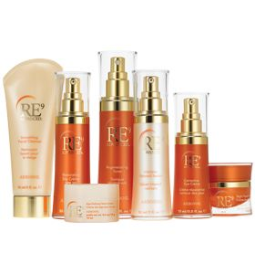 Arbonne's RE9 Advanced anti-aging skin care system synergizes nine major age-defying elements and botanicals to restore skin's youthful glow and reduce the appearance of fine lines and wrinkles.
