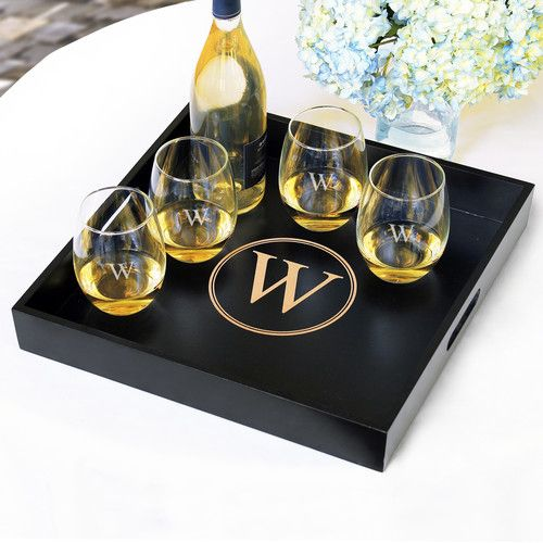 Goes with my perfect bar cart || Personalized Serving Tray