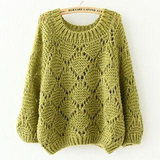 CBRL - Pointelle Knit Sweater