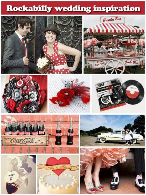 50S Style Wedding. Something like this but sailor like