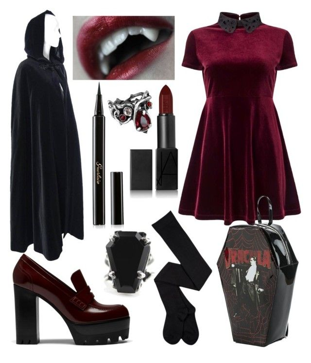 Modern Vampire by sknipa on Polyvore featuring polyvore fashion style Miss Selfridge Yves Saint Laurent Mulberry NARS Cosmetics Guerlain modern clothing
