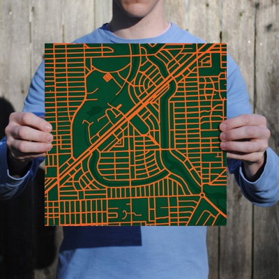 University of Miami | City Prints Map Art