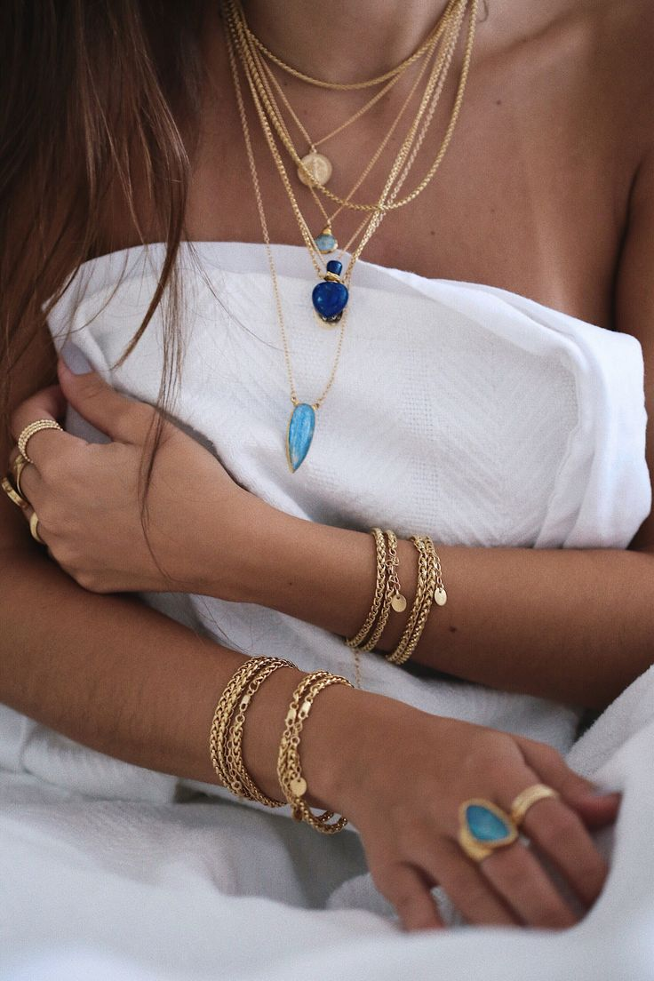 Kyanite tear necklace