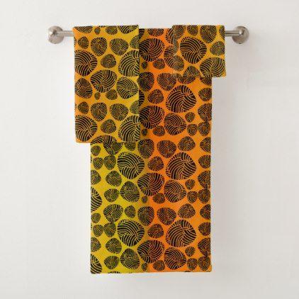 Abstract Stones Background of Zebra Pattern Bath Towel Set - pattern sample design template diy cyo customize