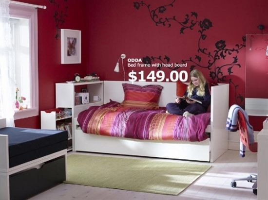 Merveilleux 2011 IKEA Teen Bedroom Furniture For Dorm Room Decorating Ideas 2011 IKEA  Girls Bedroom Bed Frame