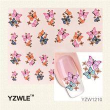 YZWLE 1 Pcs Nail Art Eau Autocollant Ongles Beauté Wraps Foil Polonais Stickers Tatouages Temporaires Filigrane(China (Mainland))