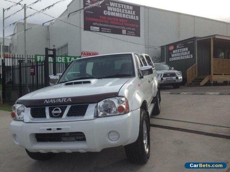 2010 Nissan Navara D22 MY08 ST-R (4x4) White Manual 5sp M Dual Cab Pick-up #nissan #navara #forsale #australia