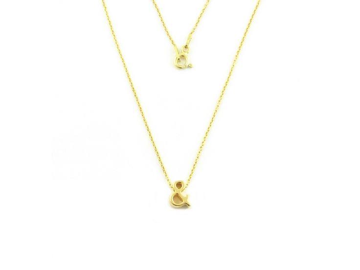 Gilded character & necklace. Pozłacany naszyjnik & NI1. #character& #gildednecklace #simplenecklace