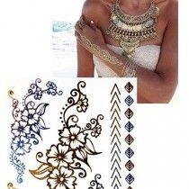 Arany tetoválás - flower
