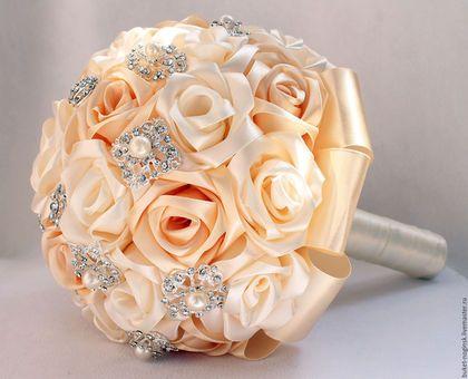 """Wedding bouquet / Свадебные цветы ручной работы. Брошь-букет """"Нежность""""…"""