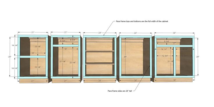 Ana White | Build a Face Frame Base Kitchen Cabinet Carcass | Free and Easy DIY Project and Furniture Plans