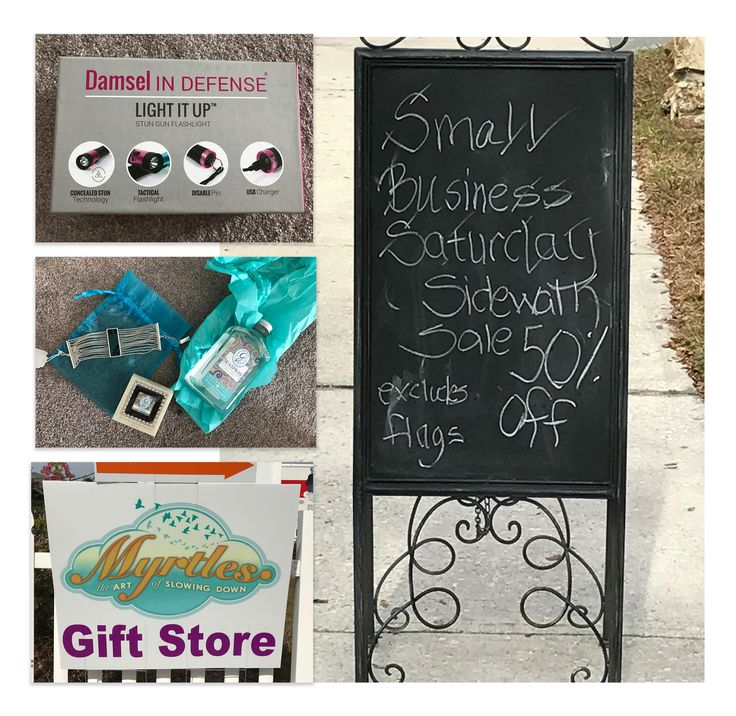 "Why Wed - Why does CI like to support local businesses?  We appreciate small businesses and know they are a BIG deal!  Michelle, our President, was working out of our Florida location and shared a sign which is VERY Florida.  Can you imagine a sidewalk sale in late November?  Well, she found some beautiful jewelry and a clever item made by a small business, ""Damsel In Defense"".  https://www.facebook.com/commercialinvestigationsllc"