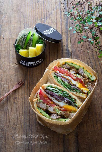 中学生男子の部活弁当★焼き肉サンド。 |あ~るママオフィシャルブログ「毎日がお弁当日和♪」Powered by Ameba