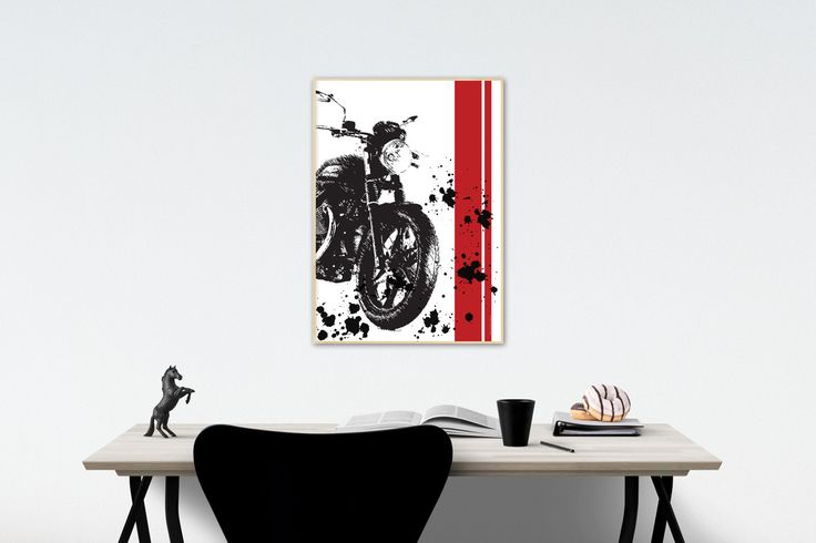 Moto Guzzi v7 Stone - illustration by MSaHomeDesign on Etsy