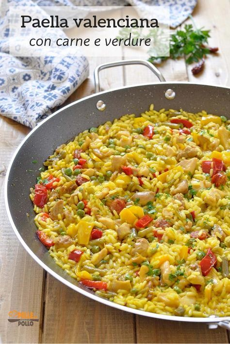 Paella valenciana con carne e verdure  Ricetta nel 2019