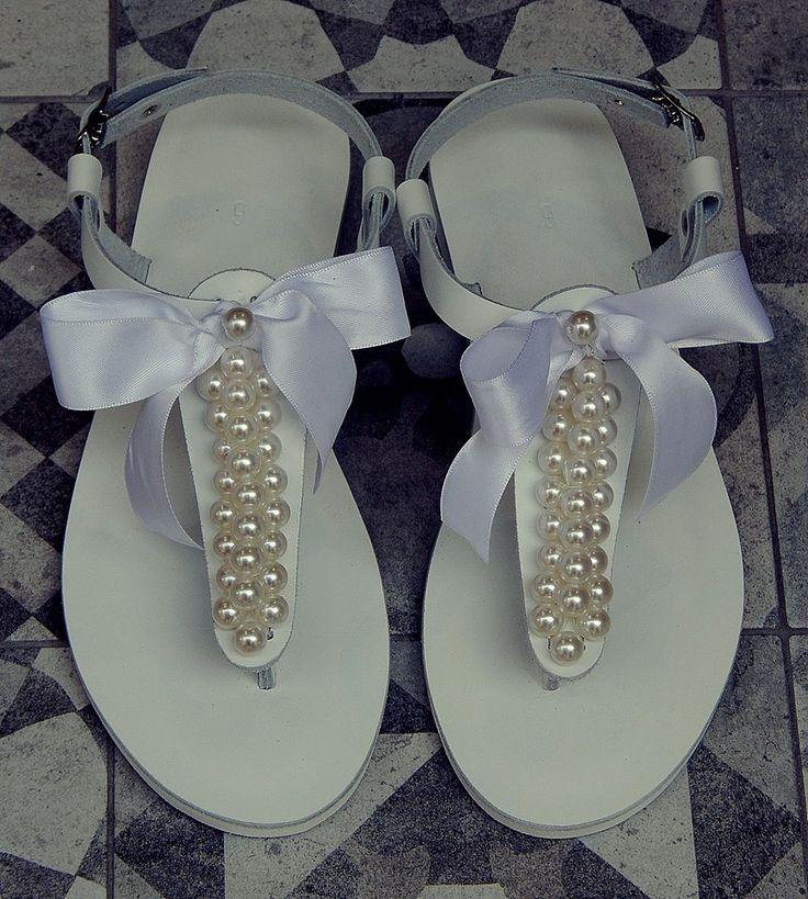 Handmade leather wedding  sandal HERA ..... Romba's ....