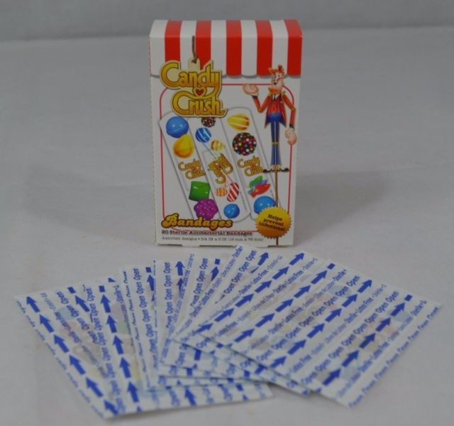 New Candy Crush Bandages Band-Aids 20 Per Box