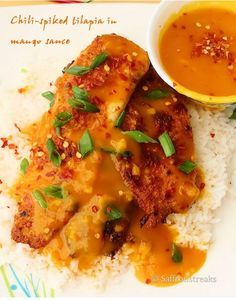 *ONLY PINNED FOR MANGO SAUCE!!* it is fantastic. I puréed my own ripened mango. Just one was about a cups worth. It is goooooood! I didn't have orange zest so I just added a touch more lemon zest and it was still so good. Great texture and I'm excited to put it on my salmon tonight!