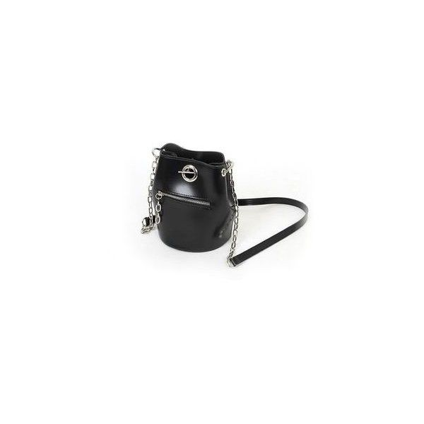 Metallic Bucket Bag With Strap ($83) ❤ liked on Polyvore featuring bags, handbags, shoulder bags, accessories, strap purse, red purse, red handbags, metallic shoulder bag and vegan shoulder bags