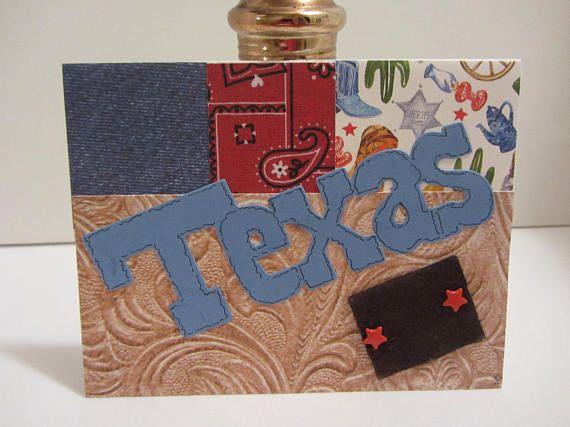 TEXAS western card.  Blank note card.  A2 envelope