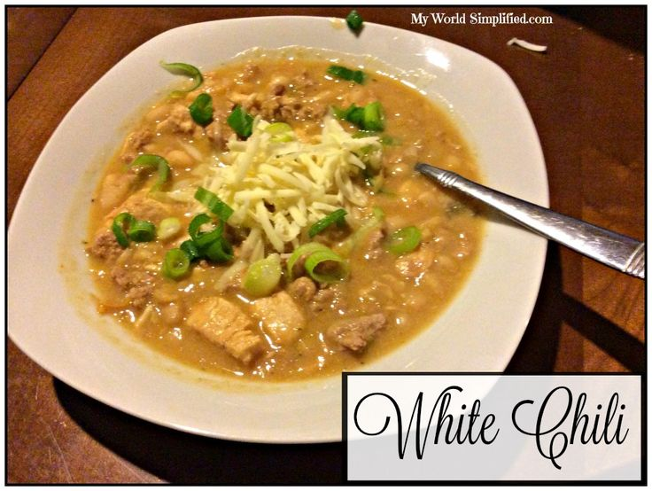 One Pot White Chili #Recipe My Best friend used to tell me about her white chili recipe that she makes. I took her idea and morphed it into my own. I enjoy a variety of beans in my chili so I carri…