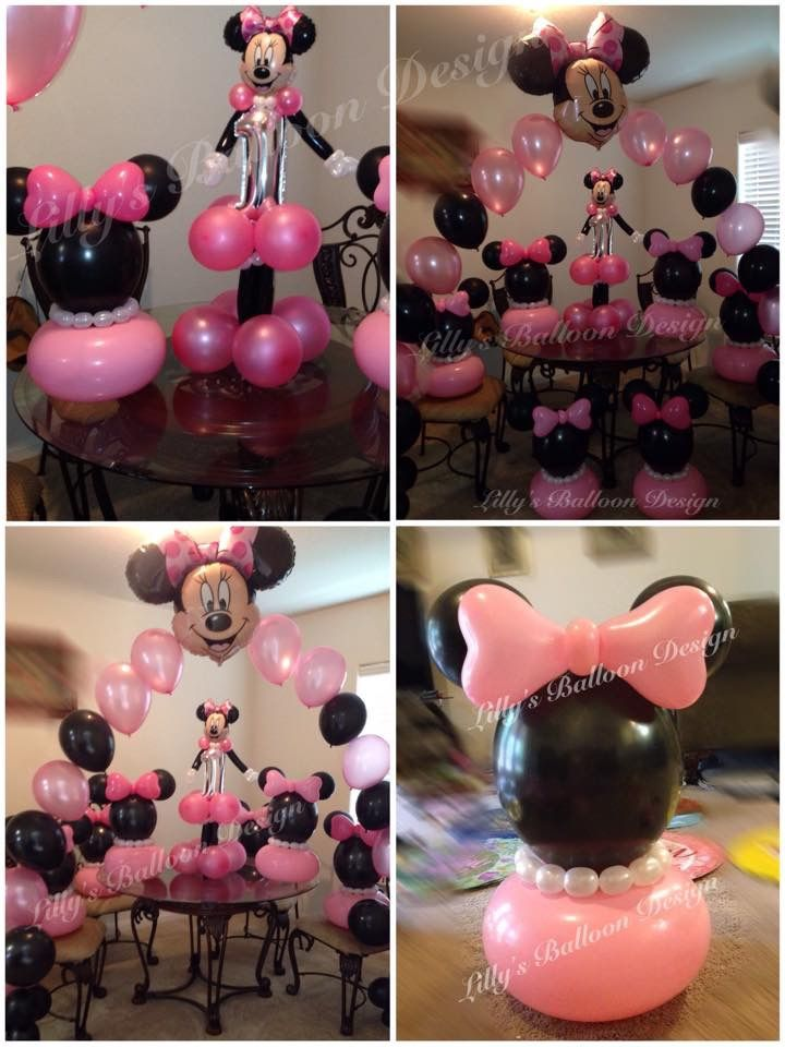570 best images about minnie mickey balloons on pinterest for Balloon decoration for birthday party philippines