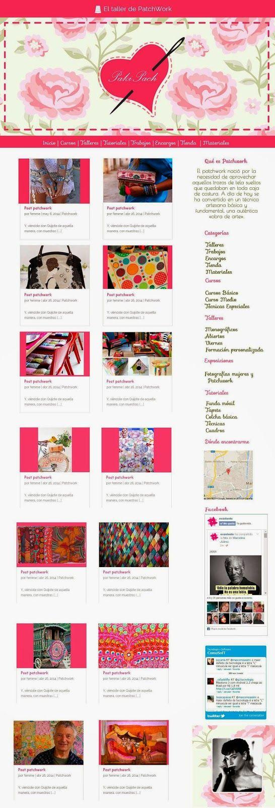 Ejemplo Diseño Blog ,Artesanos, Patchwork | Femme Fatale
