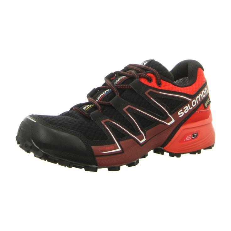 NEU: Salomon Schnürer Outdoor SpeedcrossVarioGTX - L39068700 - black/radiant red/brique-x -