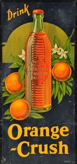 Orange Crush sign - I used to love this drink and also the Nu-Grape sodas