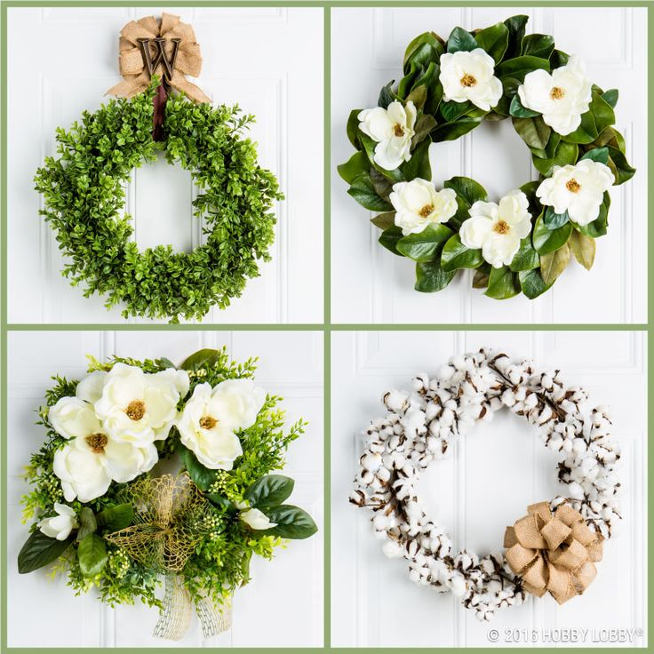 We've got wreaths galore for all your home decor needs--whether you want a pretty pick-me-up for the front door, a dinner party or just because!