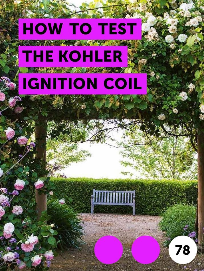 Kohler Ignition Coil Test
