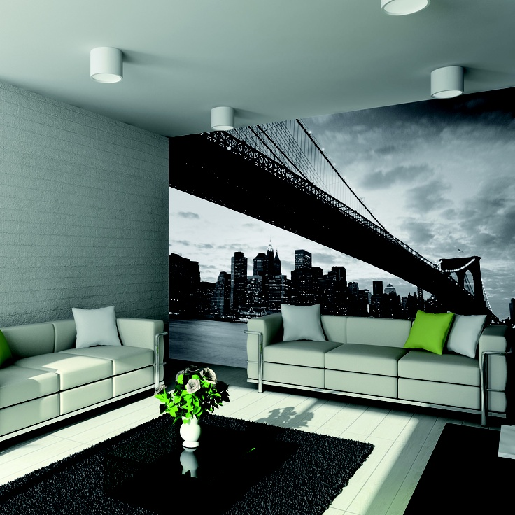 8 best images about wall murals on pinterest self for Brooklyn bridge mural wallpaper