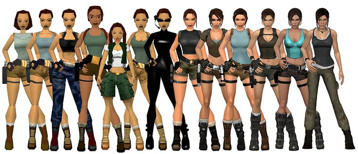 Lara Croft Evolution...WOW. they actually made her better proportioned! Boobs and hips smaller, more real less 'sexy'. Good on you developers/designers.