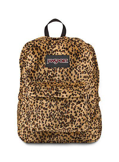 Cheetah print Jan sport backpack